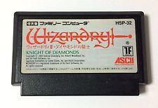USED Nintendo FC Wizardry III 3 KNIGHT OF DIAMONDS JAPAN NES Soft Only Famicom
