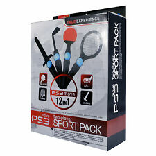 PS3 Move 12 IN 1 Two Giocatore Sport Confezione per Sony PS3 Move