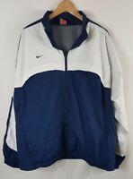 Vintage Nike Team Mens Windbreaker Track Jacket Size XL Extra Large Blue White