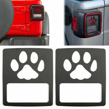 Tail Light Cover Guard Dog Paw Style Accessories Fits Wrangler Jl 2018 Usa Fits Jeep