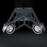 GU10 Deckenstrahler 2-flammig Industrie Metalic Grau LED Decken Lampe Strahler