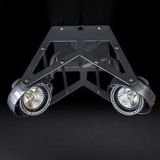 Deckenstrahler Wap 2-flammig Industrie Metalic Grau Decken Lampe Strahler GU10