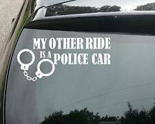 LARGE Other Ride's a Police Car Funny Car/Window JDM VW EURO Vinyl Decal Sticker