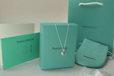"NEW Tiffany & Co 18"" Sterling Silver Chain Necklace Everything included"