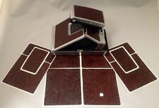 Polaroid SX-70 PolaSkinz Western Cognac Napa Cowhide Replacement Skinz SLR680