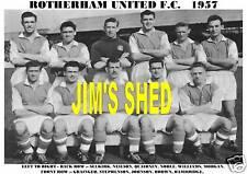 ROTHERHAM UNITED F.C.TEAM PRINT 1957 (NOBLE/JOHNSON)