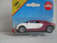 Bugatti Eb 16.4 Veyron Rosso/Bianco,Siku Super Serie,Art.1305,Nuovo,Conf. Orig.
