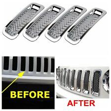 For 2011-2016 Jeep Patriot Front Grille Trims Kit Grill Insert Covers 7PCS