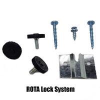 3 x Winmau ROTA Lock Dartboard Fixing Kit (Wall Bracket, Fixings & Instructions)