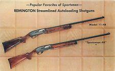 REMINGTON STREAMLINED AUTOLOADING SHOTGUNS - VINTAGE ADVERTISING POSTCARD VIEW