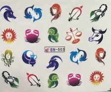Zodiac Sign Nail Art (water decals) Horoscope nail art! As Pictured