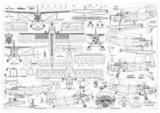 PLS-72004 1/72 Antonov An-2 Colt Soviet biplane Scale Plans (2xA2 format pages)