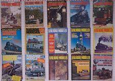 Railroad Modeler Magazine Magazines lot (22) 1971-1980