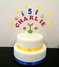 SUPER Mario e Luigi tema COMPLEANNO CAKE TOPPER Personalizzato Nome ed Età