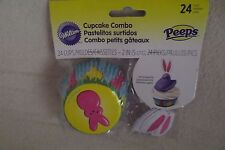 Wilton Easter Cupcake Liner Combo 24 Liners and Toppers New