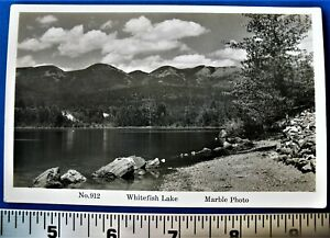 Vintage RPPC Whitefish Lake Glacier National Park No 912 Unposted Marble Photo