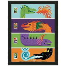 USPS New Dragons Vertical Framed Art