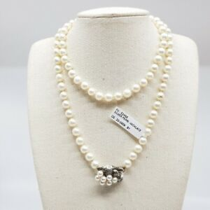 Pearl Necklace & Sterling Silver Clasp 65cm #52456