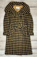 RARE Auth Women's MAX MARA Houndstooth Wool Trench Coat Size M/L