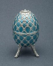 Music Box made by Splendid Music Box  - NEW - Blue Egg with Swarovski Crystals