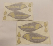 Muscaro 1960's snowmobile decals NOS
