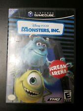 Monsters INC Scream Arena Disney Pixar NINTENDO GameCube Game, Used
