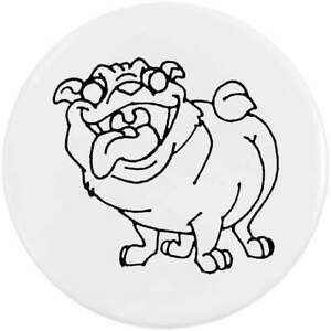 'Very Happy Dog' Button Pin Badges (BB002661)