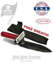Lesche Digger + Sheath + Bonus FREE HD Treasure Apron & Fast Shipping!