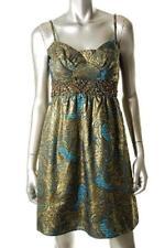 Aqua Gold/Teal Club Formal Cocktail Dress Size 0 NWT $228