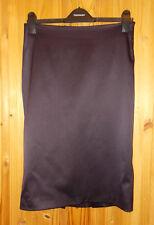 TOPSHOP dark purple aubergine stretch satin wiggle midi knee skirt 10 Steampunk