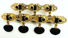 7 string gold surface classical guitar tuners black acrylic button 406GA2B