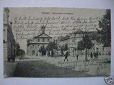 AK Rastatt 1913 Kaiserstraße mit Rathaus