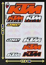 KTM Racing logo Moto-GP Helmet Racing clear Sticker Car ATV Bike Kits Decal