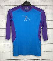 NIKE PRO COMBAT DRI-FIT Swingman T-Shirt Mens Large L Ken Griffey Jr Blue Purple