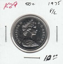 K29 CANADA 50c COIN 1975 PROOF-LIKE - CHARLTON $10.00