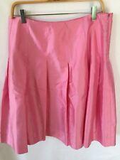 J Crew Pink Satin Pleated Skirt - size 10