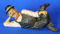 Vintage Oliver Hardy ceramic figure, 18cm long *[17307]
