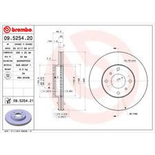 Bremsscheibe (2 Stück) COATED DISC LINE - Brembo 09.5254.21