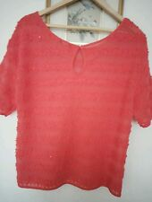 Womens coral top tunic size M plus. See measurements