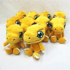 "1PC 5"" Digital Monster Digimon Adventure Agumon Plush Stuffed Doll Keychain Toy"
