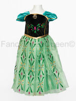 Anna Coronation Costume Girls Frozen Fancy Dress Age 2/3/4/5/6/7/8/9/10/11/12