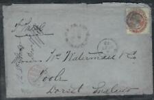 NEWFOUNDLAND COVER (PP0207B) 1873  QV 12C SENT VIA LIVERPOOL PAID RED TO ENGLAND