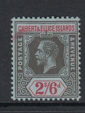 Gilbert & Ellice Is 1912 2s6d Black & Red-Blue SG22  Mtd Mint