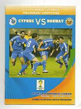 Orig.PRG   WM Qualifikation  16.10.2012    ZYPERN - NORWEGEN  !!  SELTEN