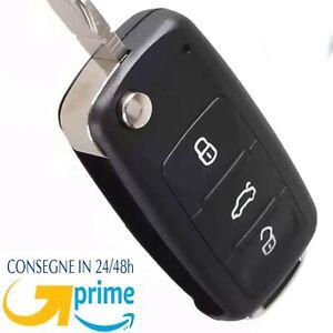 Guscio cover Telecomando 3 Tasti Compatibile per VW Golf 5 6 7 Passat B7 CC