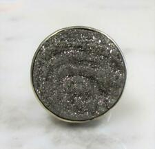 Size 6.5 ~ 12.3grams ~ 1-G2018 Starborn Druzy Solitaire Sterling Silver Ring ~