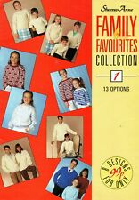 ~Sandra Anne Family Favourites Knitting Pattern Booklet ~ 13 Patterns ~ See Pics