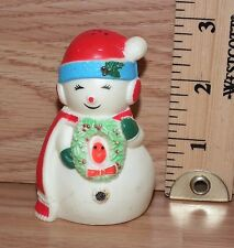 Unbranded Christmas Snowman Plastic Pepper Shaker Only *No Stopper*