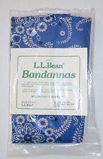 LL Bean Paisley Bandanas Pack of 3 Pink Yellow Blue Headband Scarf 18 Square