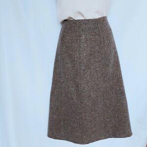 Vintage OTTERBURN Heavy Pure Wool Tweed A-Line Skirt, Small, 28 Inch Waist